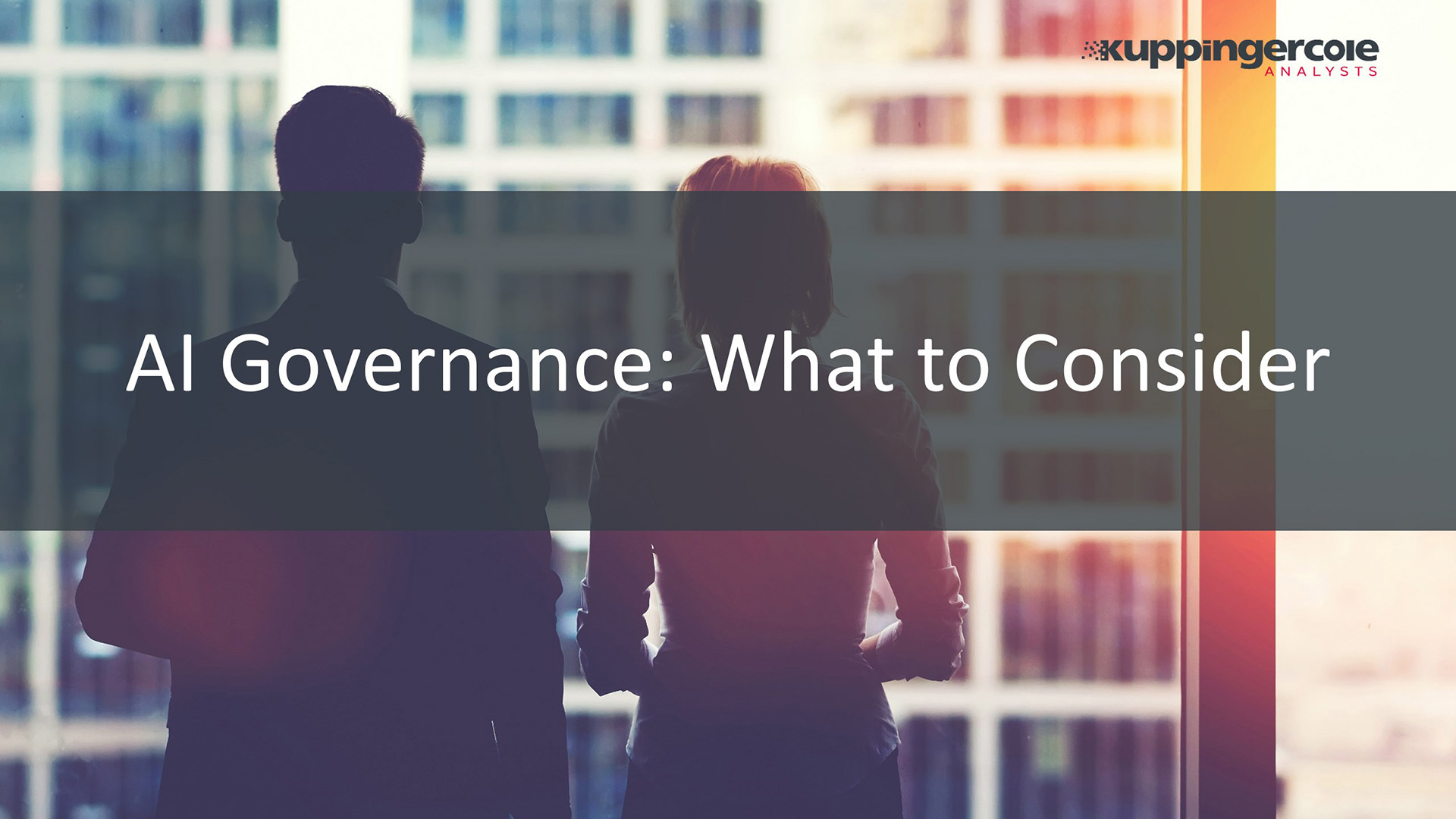 AI Governance: What to Consider