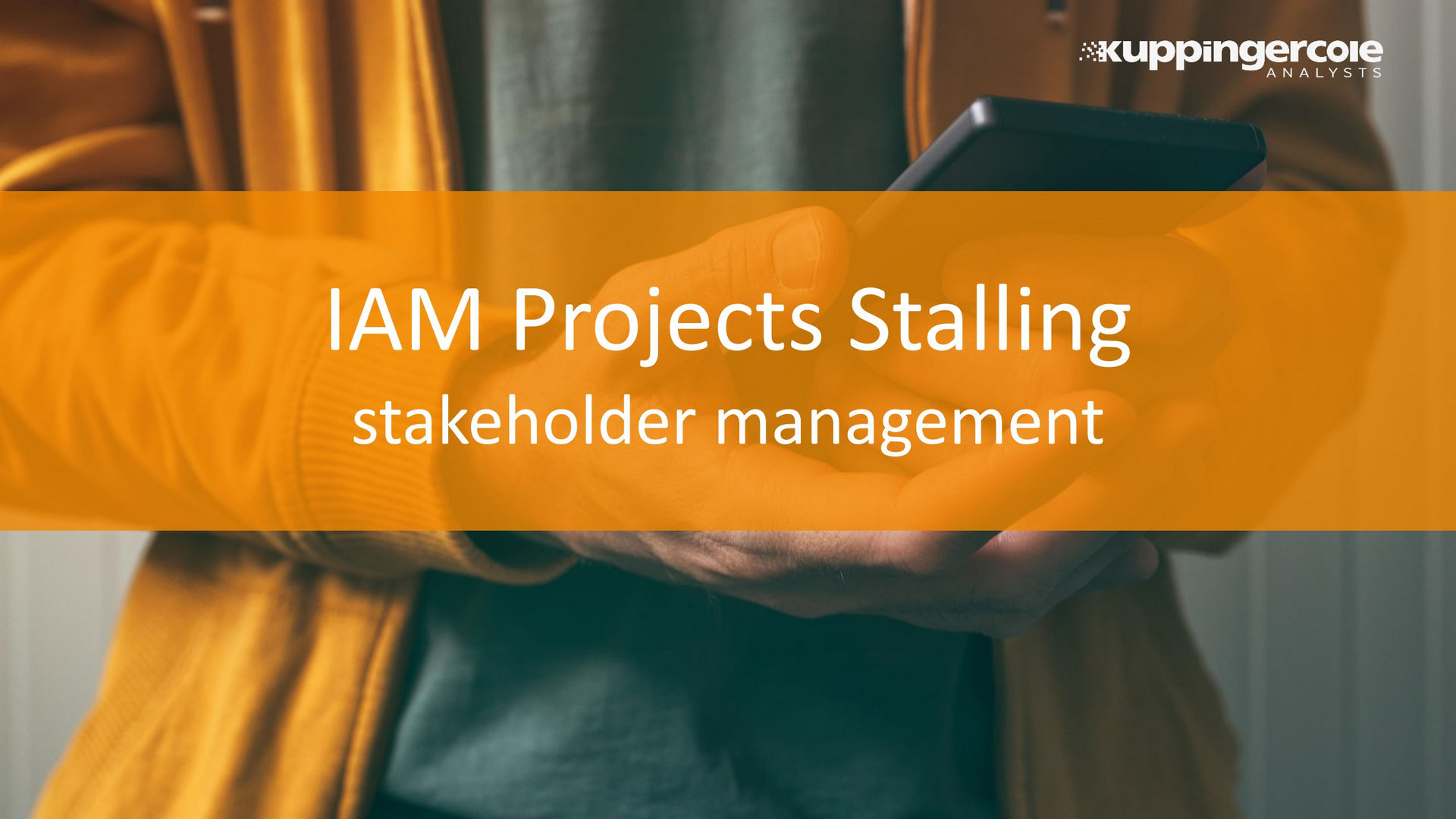 IAM Projects Stalling - Stakeholder Management